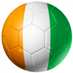 Ivory Coast Football Flag 25mm Pin Button Badge